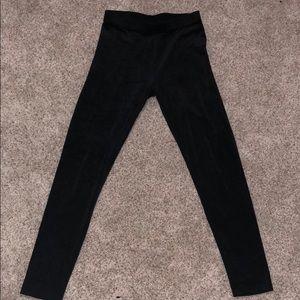 Faux velvet leggings